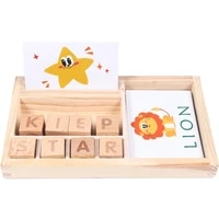 wooden kids spell game english cardboard puzzles enlightenment baby to learn letters toy building blocks fancy toy 4 6 years
