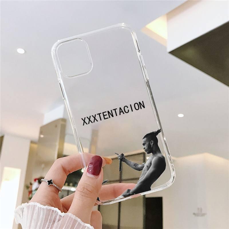 XXXTENTACION HIP HOP Rapper Phone Cases Transparent for iPhone 6 7 8 11 12 s mini pro X XS XR MAX Plus SE cover funda shell capa  - buy with discount