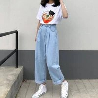 baggy jeans women pants blue black fashion casual harajuku woman pants