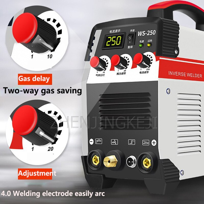 Electric Welding Machine Inverter Direct Current 220V Electric Welding Argon Arc Welding 10-250 Stepless Adjustment 7500W
