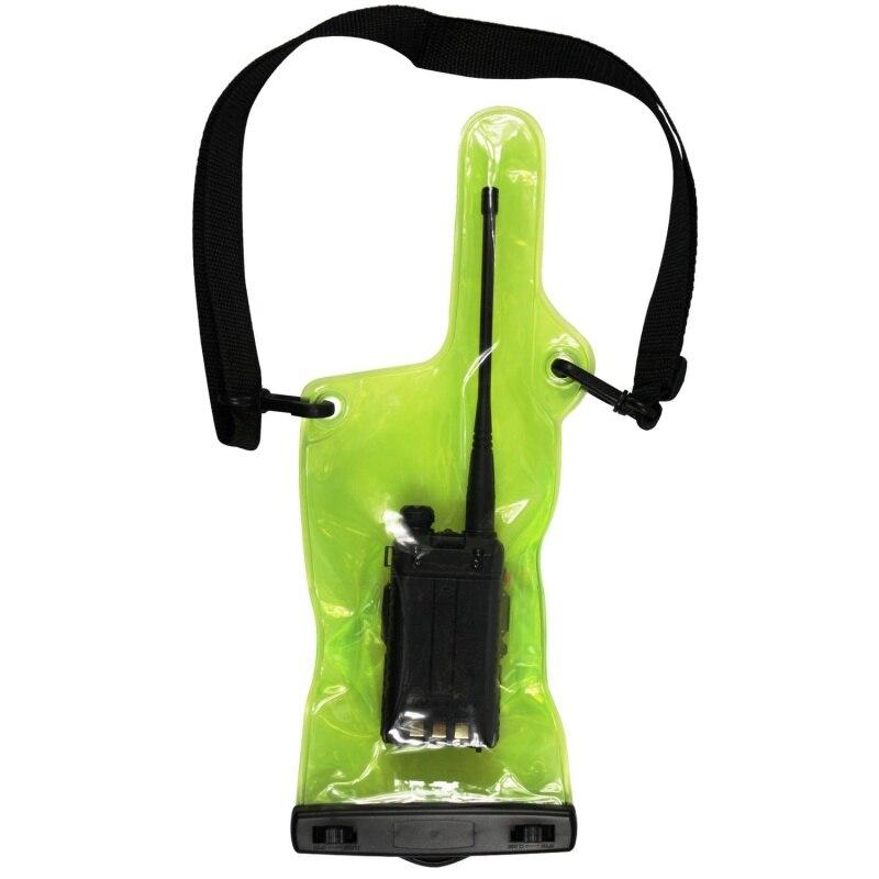 Wodoodporny PVC torba Case etui dla Walkie Talkie radia dwukierunkowe pełna ochrona osłona z uchwytem z smycz przenośne zasilanie zewnętrzne