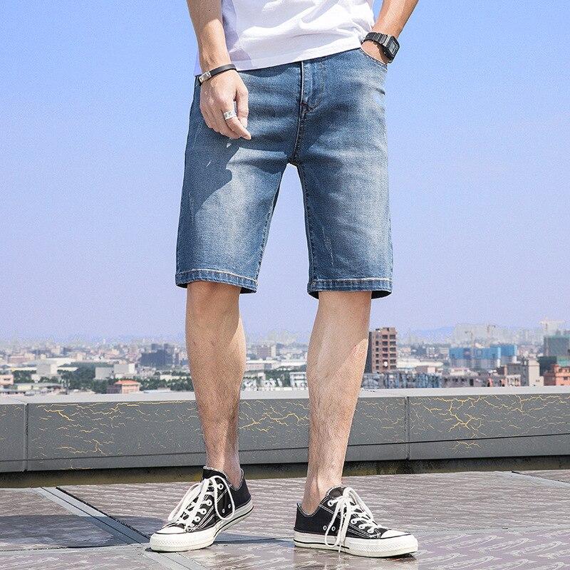 comfortable denim loose jeans middle pants