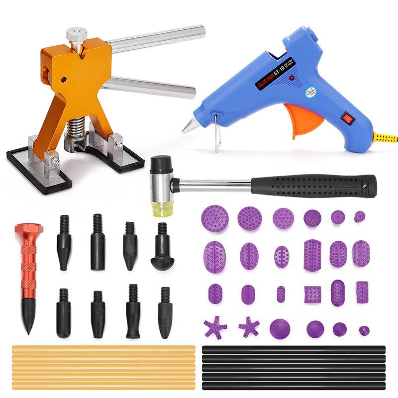 Автомобильный Регулируемый инструмент для вмятин, подъемник, набор инструментов для ремонта, инструмент для удаления вмятин без покраски, ...