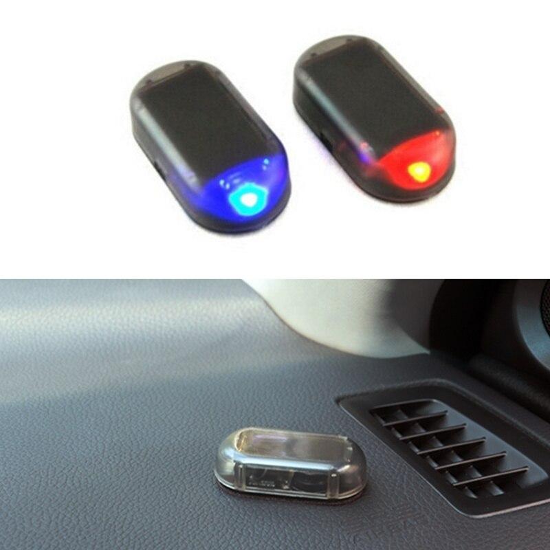 Lámpara de alarma de energía Solar para coche 2019, accesorios para automóvil para Toyota Camry Highlander RAV4 Crown Reiz Corolla Vios Yaris