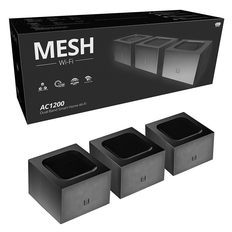 Wifi Mesh AC1200 Dual Band Router 802.11ac Gigabit Whole Home Mesh System Network Router Good Penetrability Easy Setup PK MW6