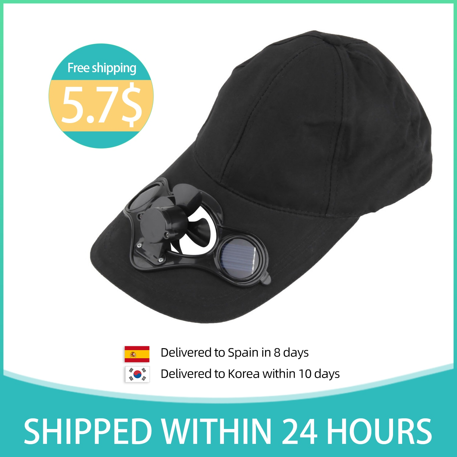 Air Cool Fan Hat Cap With Solar Sun Power Cool Fan For Cycling Energy Save No Batteries Required Fishing Summer Sport Outdoor