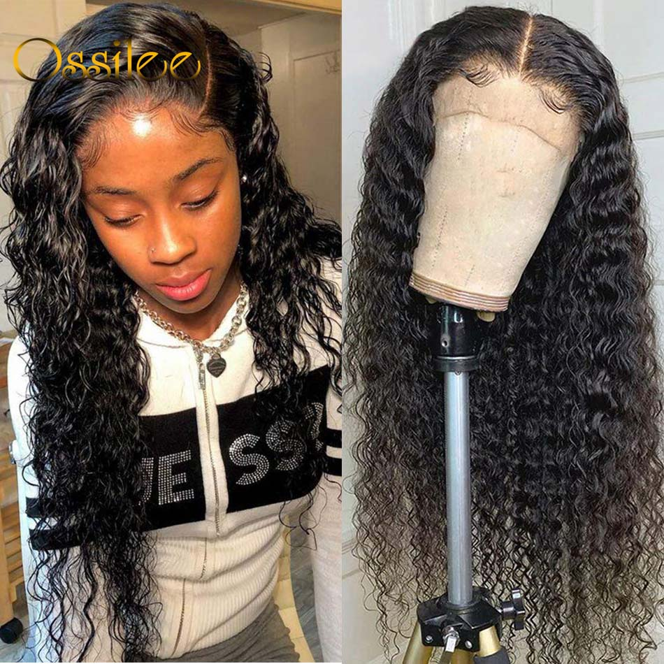 4x4/13x4/13x6 Lace Front Human Hair Wigs Deep Wave Wig 5x5 Closure Wigs Remy Curly Human Hair Wig Frontal Wigs Pre Plucked