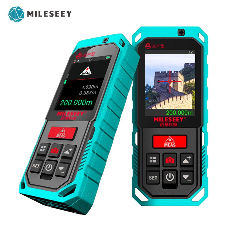 Mileseey في الهواء الطلق ليزر ديستانك متر مع 4x التكبير قياس الليزر المسافة مع بلوتوث الرقمية مقياس مسافات الليزر