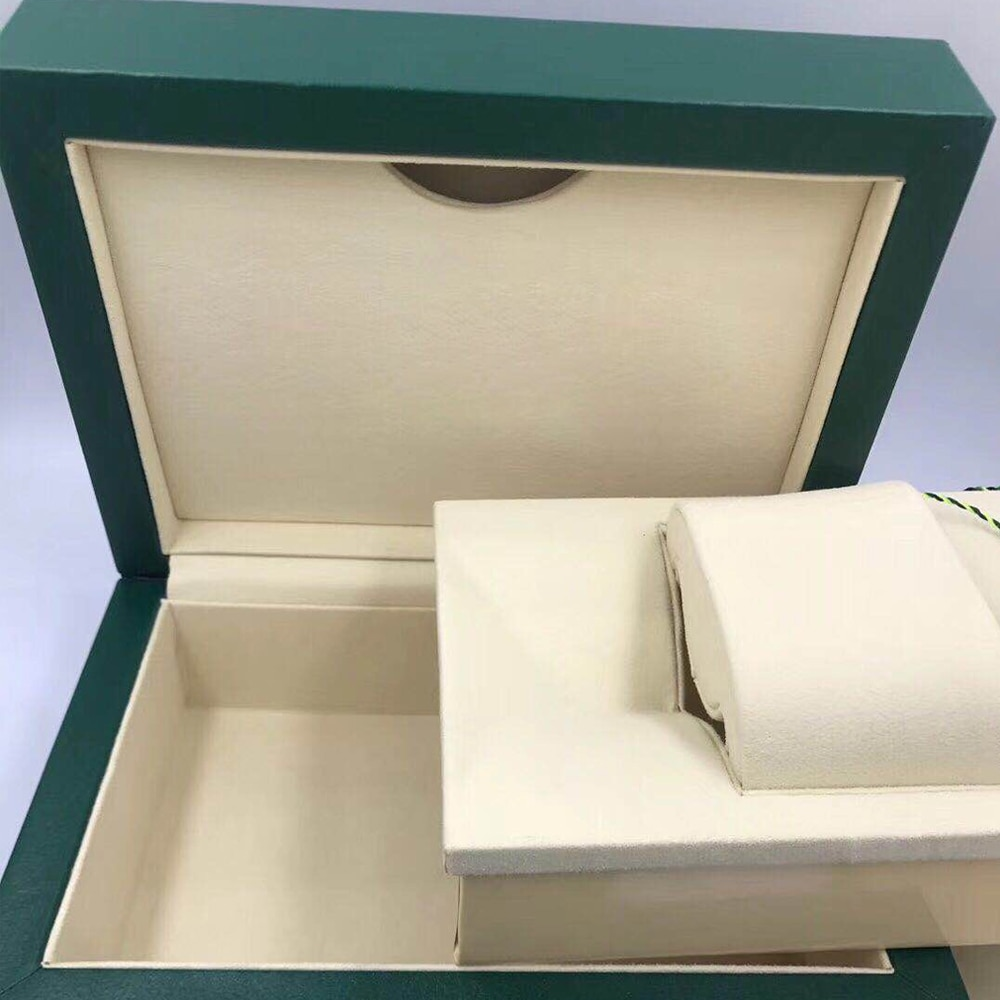 Original Matching Papers Security Card Gift Bag Top Green Wood Watch Box Booklets Watches Card enlarge