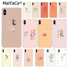 MaiYaCa, gran estética, arte floral, foto personalizada, funda de teléfono suave para iphone 11 pro 8 7 6 6S Plus X XS MAX 5 5S SE XR 10, funda