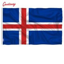 Drapeau islandais 3X5 européen 90x150cm   Bureau, activité, défilé, Festival, décoration de la maison, nouvelle mode