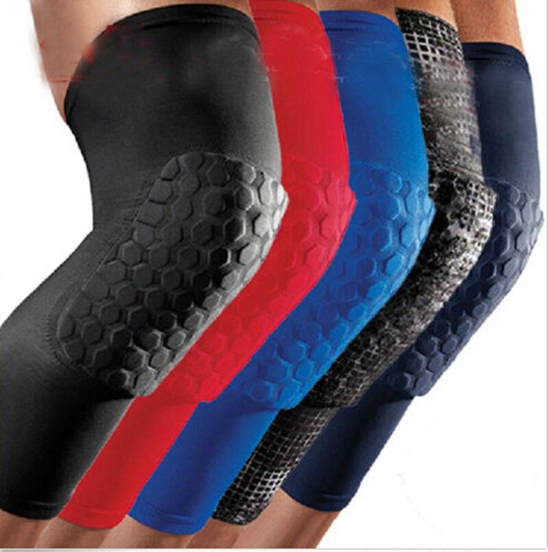 Rodillera profesional de panal a prueba de cresta, rodilleras deportivas protectoras, rodilleras para pierna, rodillera de baloncesto, venda transpirable