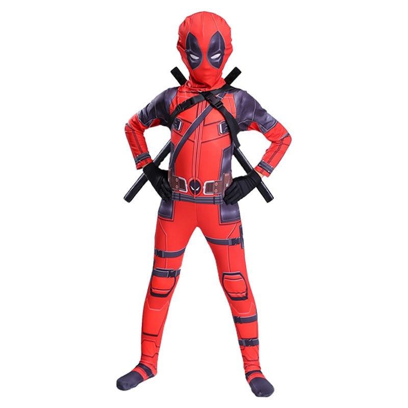 Детский костюм Дэдпул, карнавальный костюм Дэдпул, Детский карнавальный костюм Дэдпул на Хэллоуин для детей, праздничный костюм для мальчи...