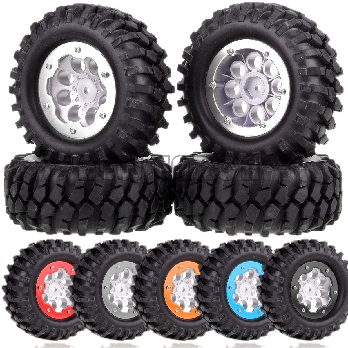 """Nuevo ENRON 4P 1,9 """"Rueda llanta, cubo y 108mm los neumáticos coche RC 110 Rock Crawler Axial SCX10 II 90046 90047 Traxxas TRX4 Tamiy D90"""