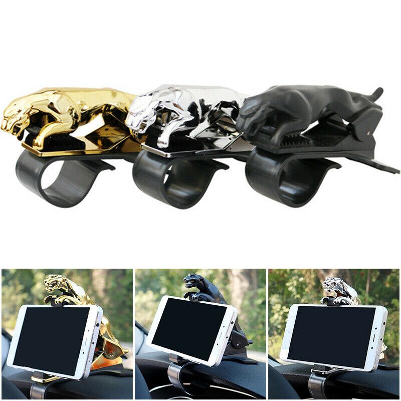 Soporte Universal de teléfono para coche tablero de leopardo soporte de teléfono 360 grados teléfono HUD montaje Clip GPS accesorios de soporte de pantalla