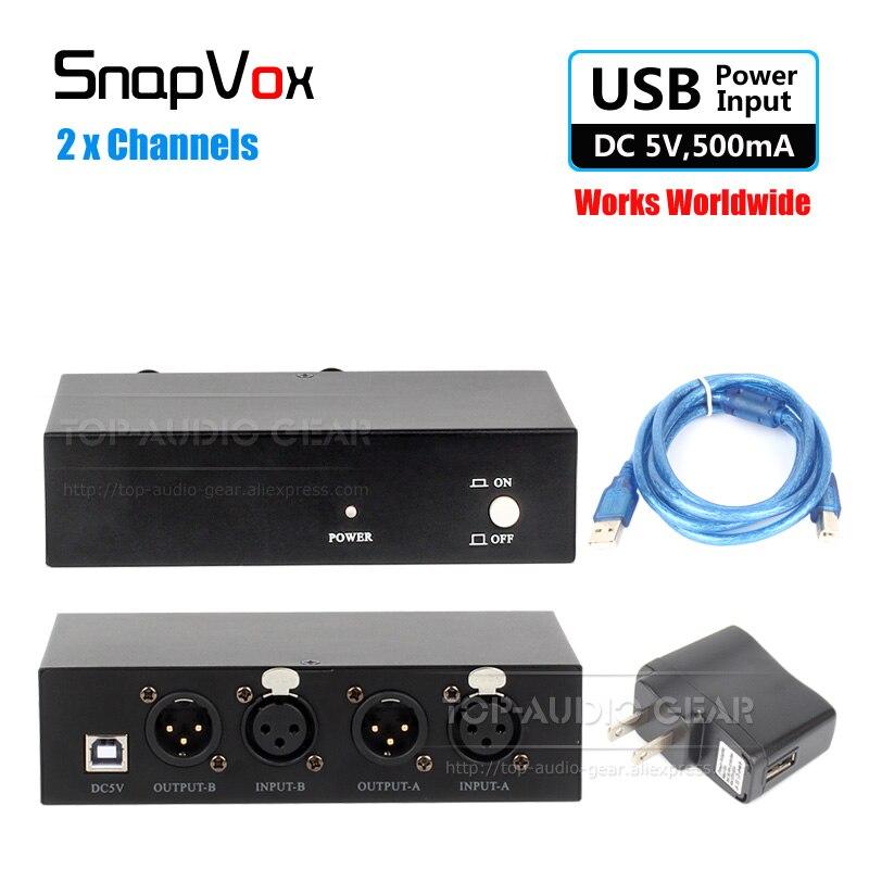 2 x canales de 48 V fuente de alimentación Phantom 48 V CC condensador de potencia de micrófono para Audio Technica a 2020 2050 2035 AT2020 AT2035 micrófono