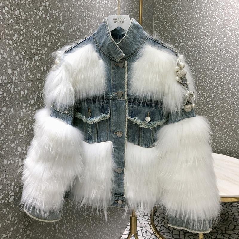 Abrigos de piel auténtica para mujer 2019 chaqueta de piel de zorro Natural de Invierno para mujer