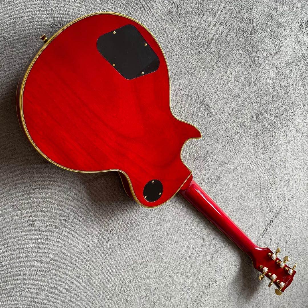 High Quality Sunburst color Electric Guitar.Handmade 6 stings guitarra.Rosewood fingerboard.mahogany body enlarge