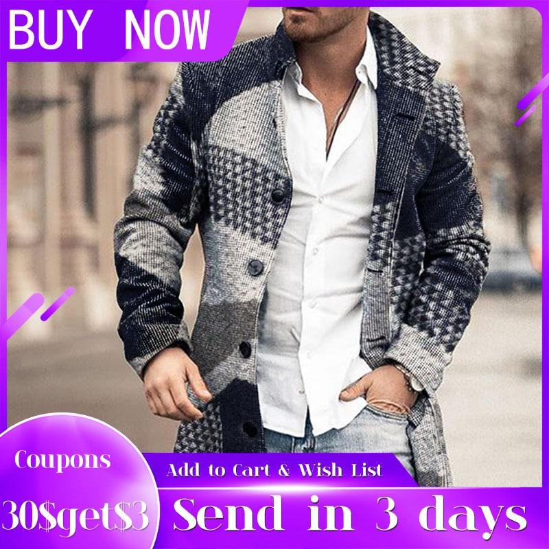 جاكيت رجالي متقلب ، معطف عصري ، مقاس كبير 4xl ، ملابس خارجية غير رسمية ، ربيع-شتاء 2021