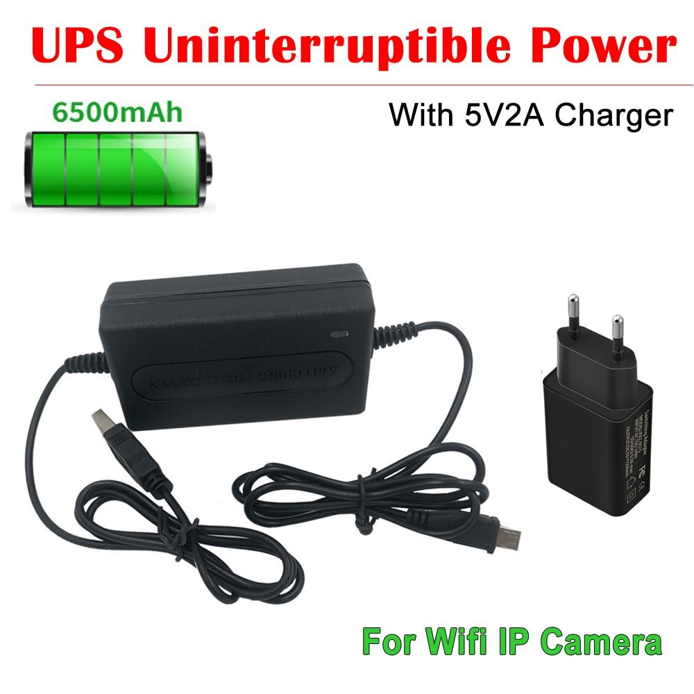 Источник бесперебойного питания NEOCoolcam, 6500 мА/ч, 5 В, 2 А, USB, интеллектуальный, с адаптером питания 5 В для Wi-Fi IP-камер и видеорегистраторов