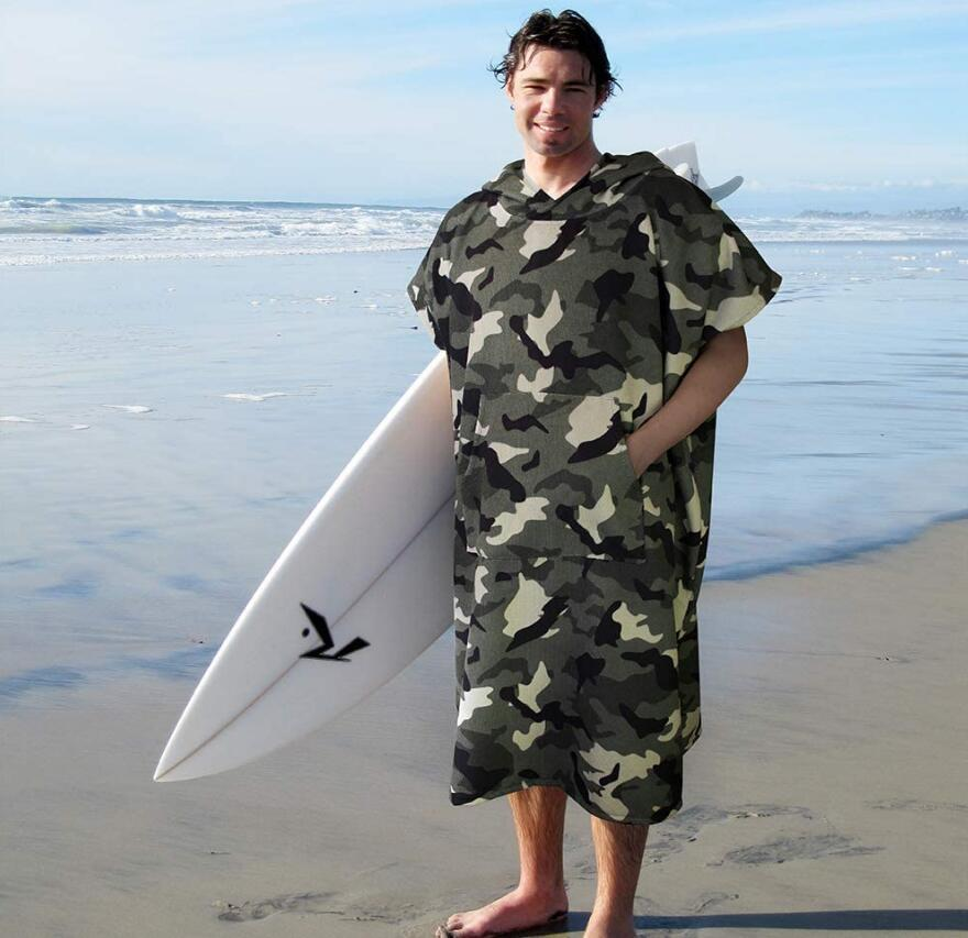 2021 Summer Beach Surfing Quick Change Clothes Bath Towel Bathrobe Short Sleeve Casual Sweatshirt