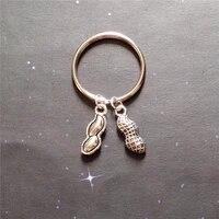 peanut keychain peanut keyring food charm jewelry purse charm kids jewelry peanut jewelry cute nut mini peanut key chain