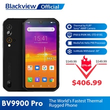 Blackview BV9900 Pro Thermal Camera Mobile Phone Helio P90 Octa Core 8GB 128GB IP68 4G Rugged Smartp