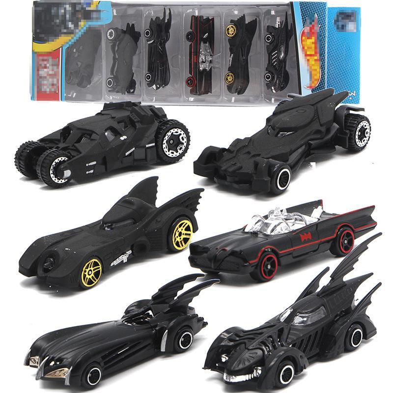 6PCS/Sset Batmobile Alloy Car Model Toy Vehicle Combination Children's Car Toy Set