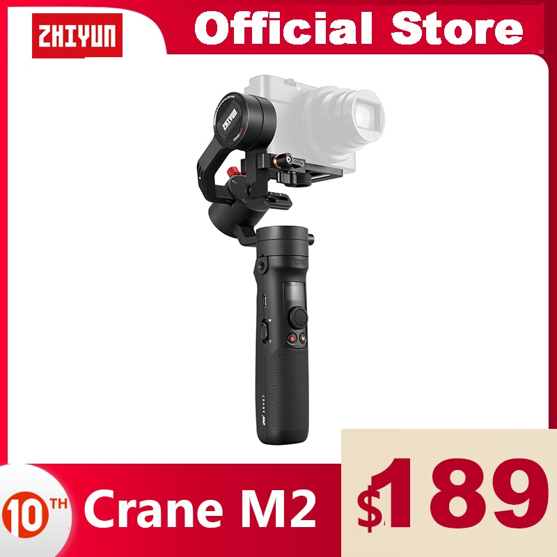 ZHIYUN Official Crane M2 Gimbals for Smartphones Phone Mirrorless Action Compact Cameras New Arrival 500g Handheld Stabilizer