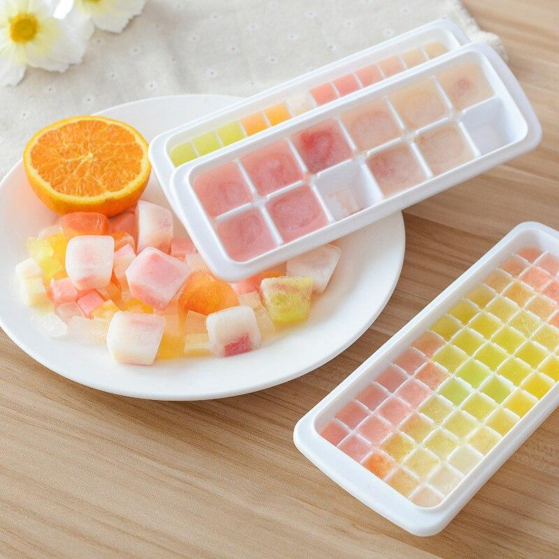 12/48/60 cavidades bandejas de cubitos de hielo de silicona molde de goma de cubos cuadrados para cócteles whisky partículas caramelo Pudding Jelly