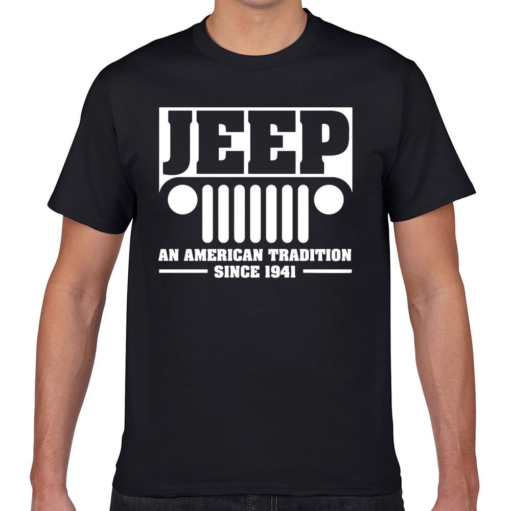 T-shirts homem jeep design preto geek impressão masculino tshirt xxxl