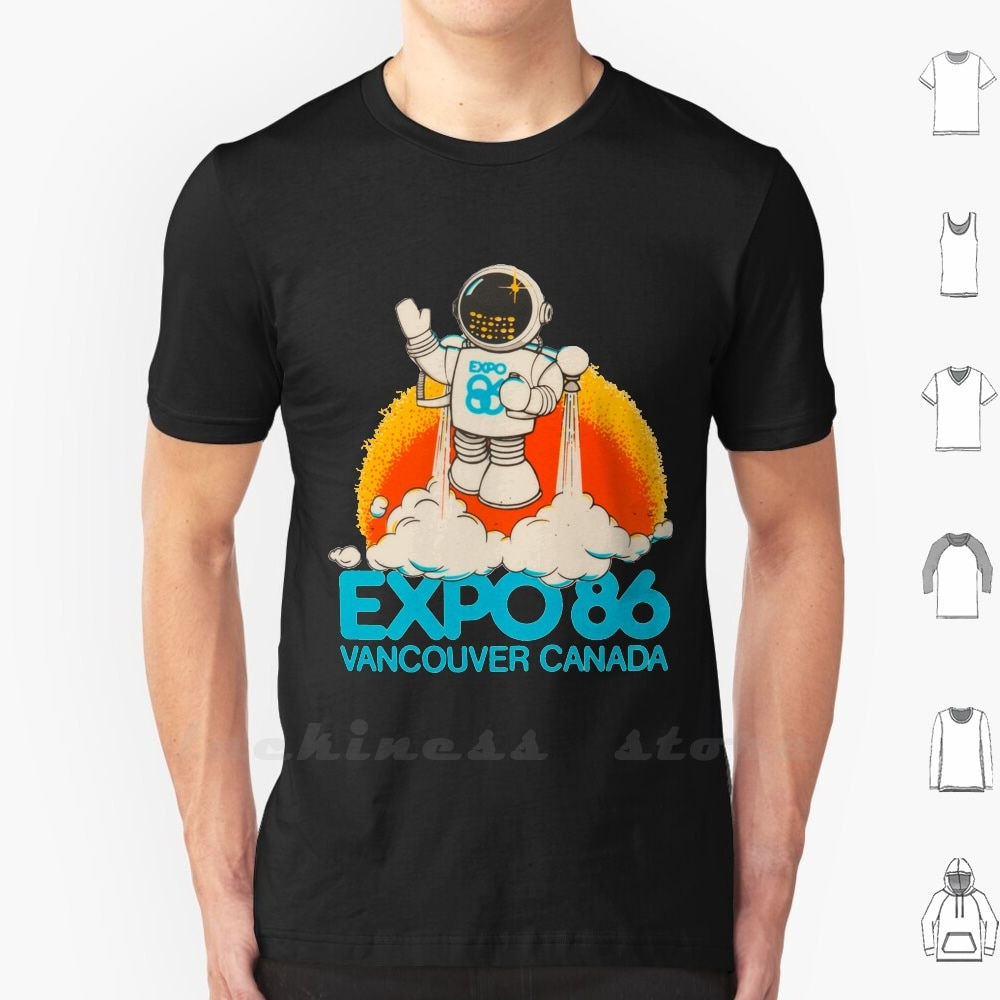 Expo 86 Vancouver Canadá camiseta hombres mujeres adolescentes algodón Expo 86 Vancouver Canada Expo 86 1986 80S Canada Vancouver Ryan