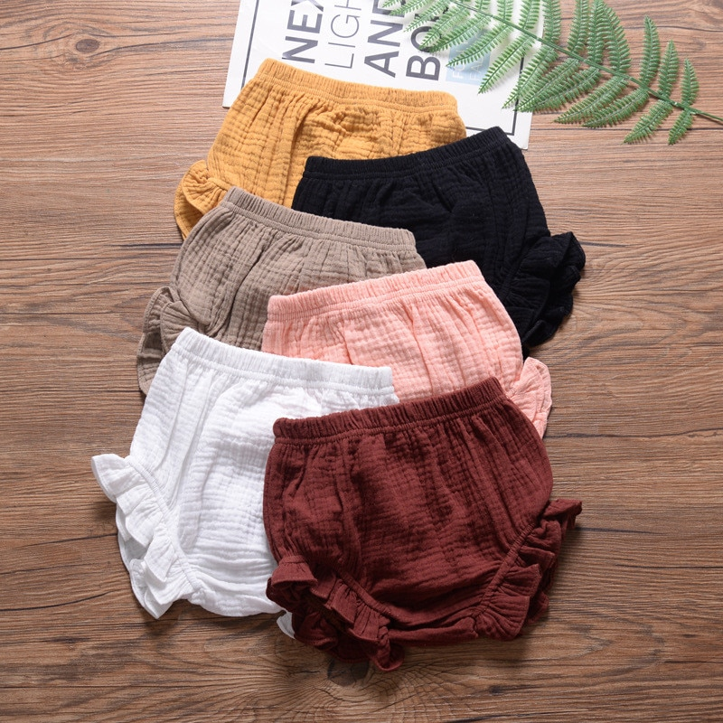 Infant Kids Harem Pants Cotton Linen Shorts Newborn Baby Boys Girls Short Trousers PP Pants Diaper C