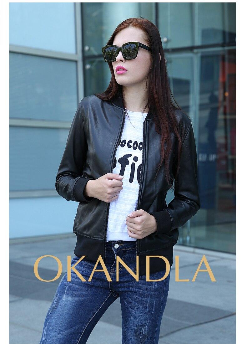 Woman Quality Genuine Leather Slim Fur Jackets Motorbiker Plus Size Female Sheepskin Jacket Suede Cool