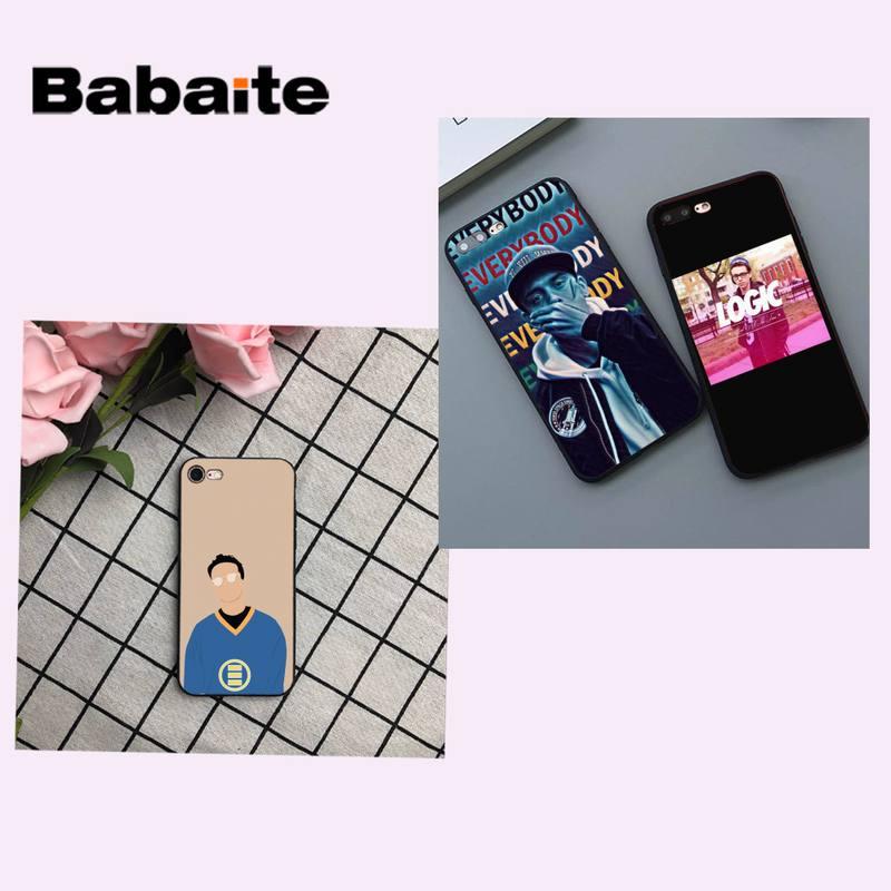 Babaite rapero lógica todos DIY funda de teléfono de lujo para iPhone 8 7 6 6S Plus X XS X MAX 5 5S SE XR 11 11pro promax