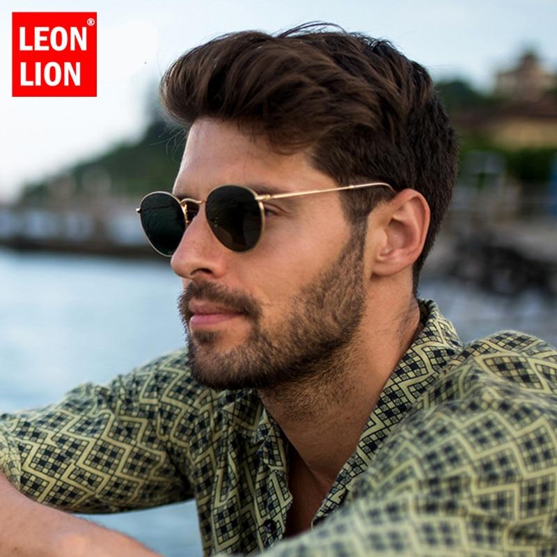 LeonLion 2021 модные ретро солнцезащитные очки мужские круглые винтажные очки для мужчин/женщин Роскошные солнцезащитные очки мужские маленькие...