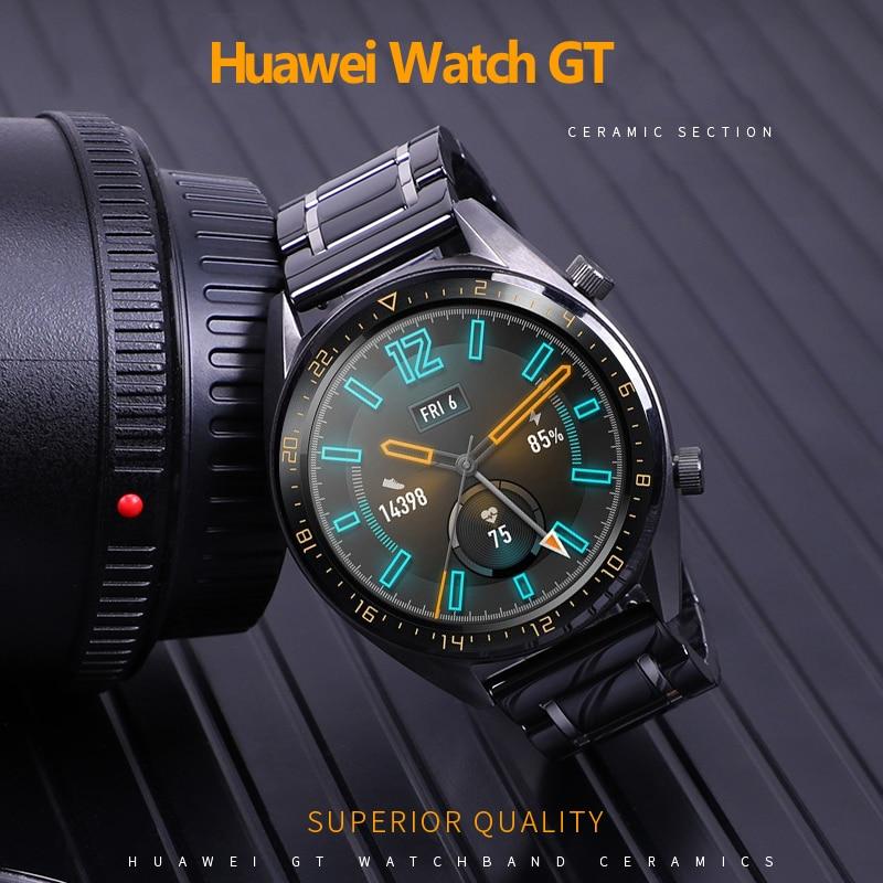 Huawei watch GT 2 strap for Samsung Galaxy watch 46mm strap Gear S3 Frontier Bracelet  S 3 46 22 mm GT2 Ceramic 22mm watch band