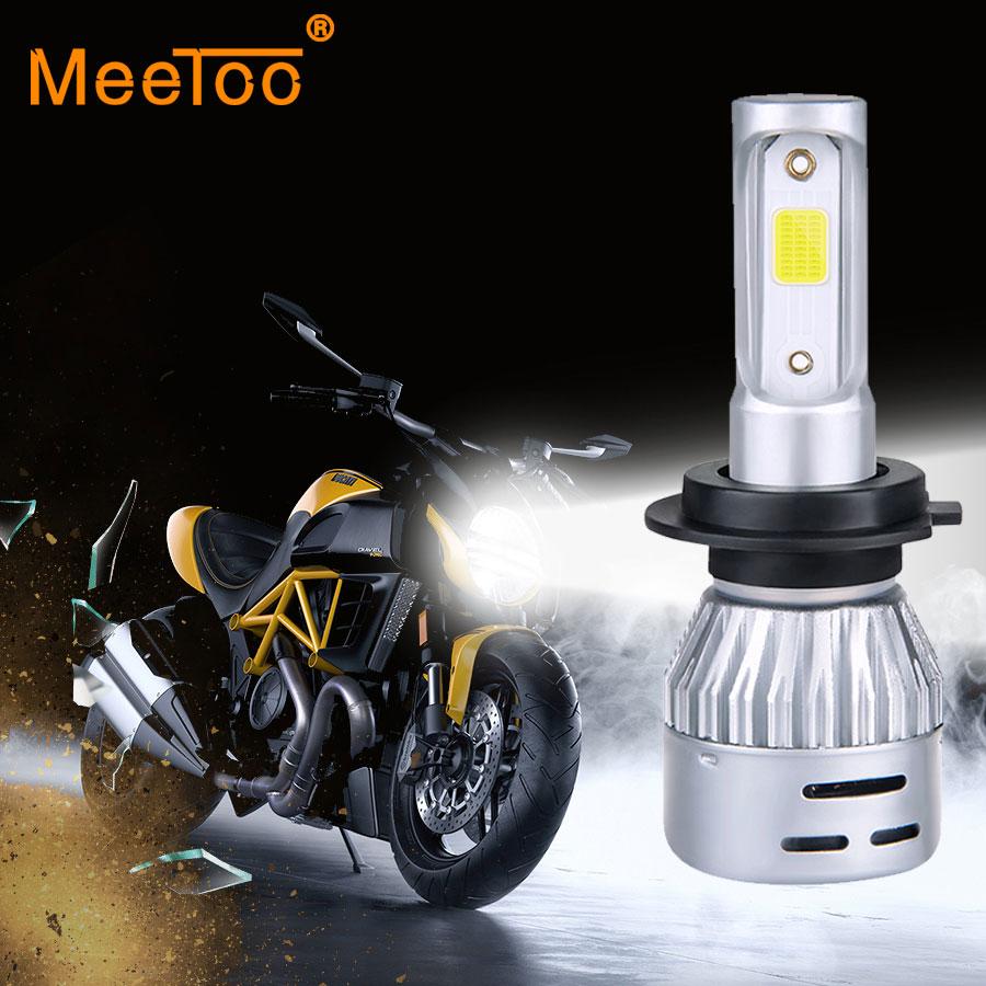 H4 led faro de la motocicleta HS1 bombillas Led moto 12V 4300k 6500K Scooter Turbo Led Motor ACCESORIOS Hola/lo lámparas Auto