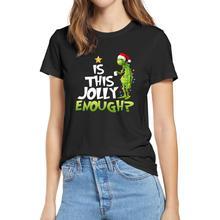 100% coton 2020 mode été t-shirts Grinch est ce Jolly assez joyeux noël vacances graphique femmes T-Shirt doux T-Shirt cadeau