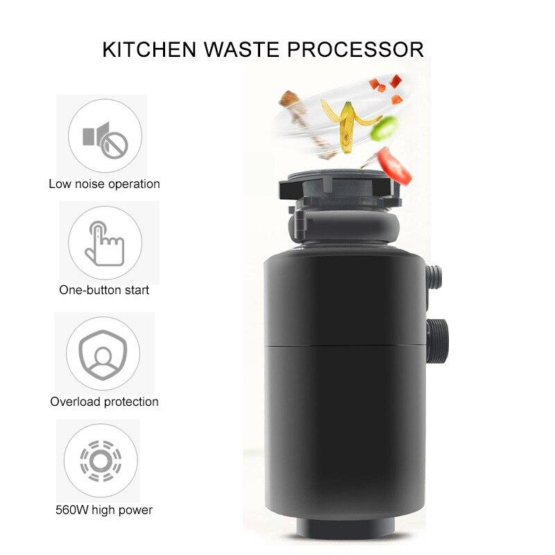 أجهزة مطبخ منزلية المطبخ النفايات المعالج متعددة الوظائف المطبخ التلقائي الغذاء طحن طاحونة عالية الطاقة