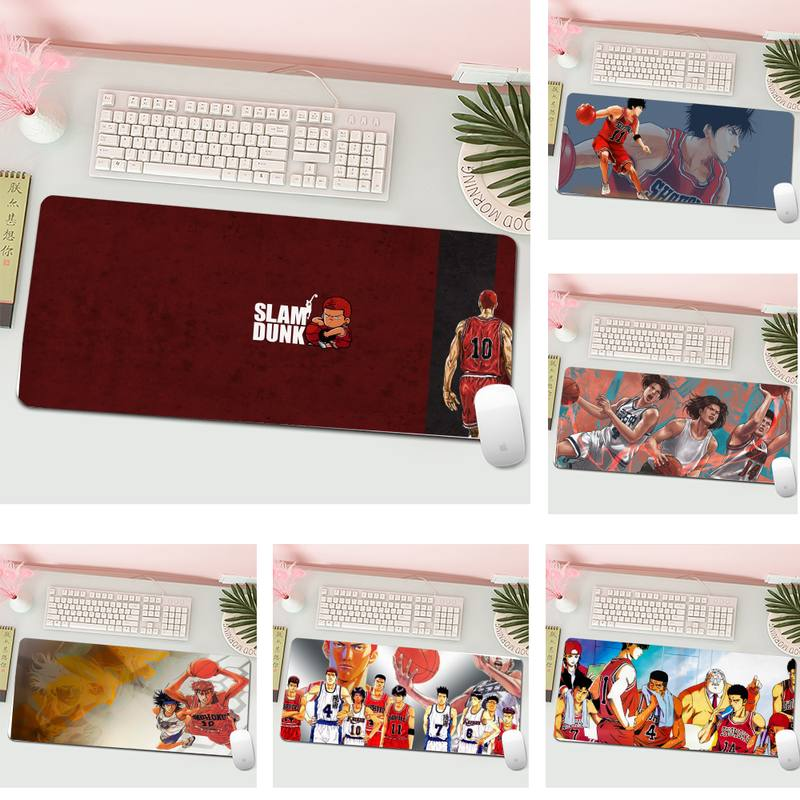 Anime SLAM DUNK Natural Rubber Gaming mousepad Desk Mat L Large Gamer Keyboard PC Desk Mat Computer Tablet Gaming Mouse Pad