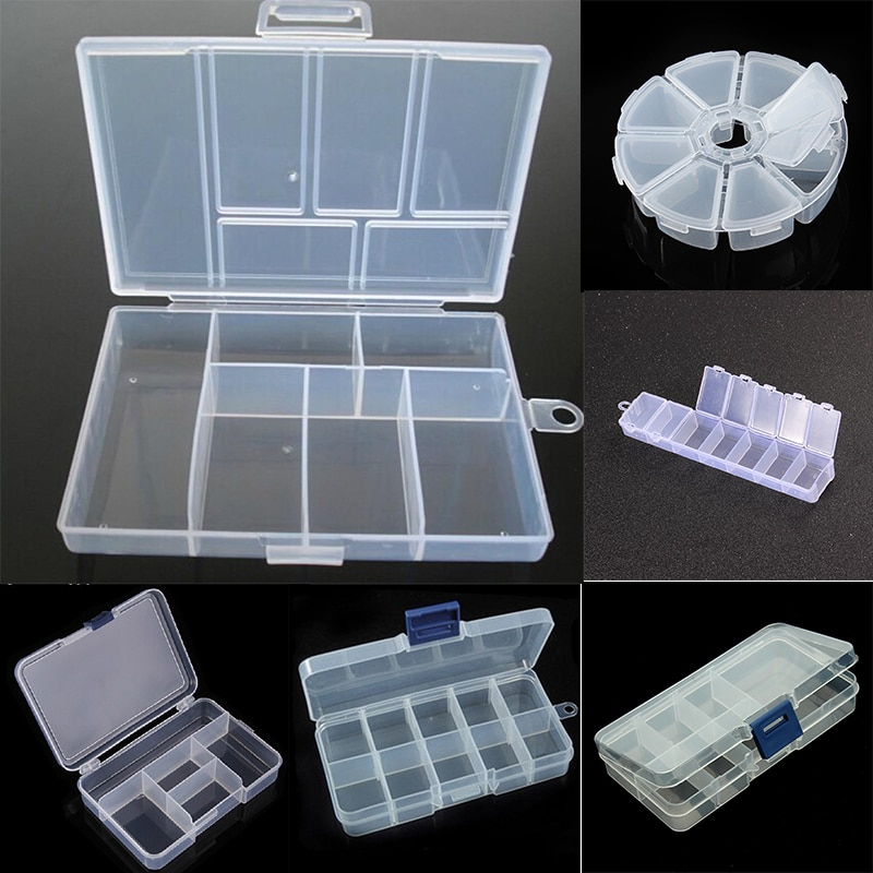 Plastic Jewelry Boxes Plastic Tool Box Adjustable Craft Organizer Storage Beads Bracelet Jewelry Boxes Packaging Wholesale