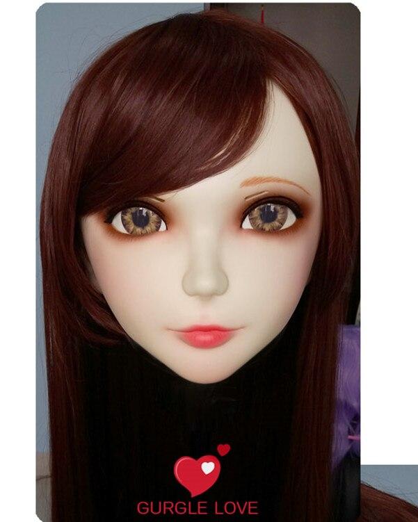 (GL009) weibliche Süße Mädchen Harz Kigurumi BJD Maske Cosplay Japanischen Anime Rolle Lolita Lebensechte Echt Maske Crossdress Sex Liebe Puppe