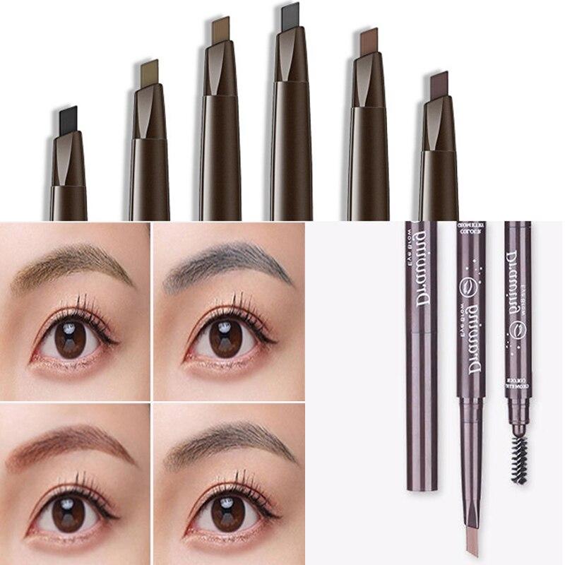 Lápiz de CEJA Natural a prueba de agua, tinte de cejas de cuatro garras, punta de horquilla, lápiz para tatuaje de cejas de larga duración, Cosméticos fáciles de usar