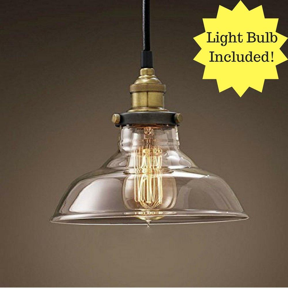 E27 مصباح Led زجاجي معلق ، صناعي ، إضاءة سقف زخرفية ، مثالي للمطعم أو البار أو غرفة المعيشة أو غرفة النوم.