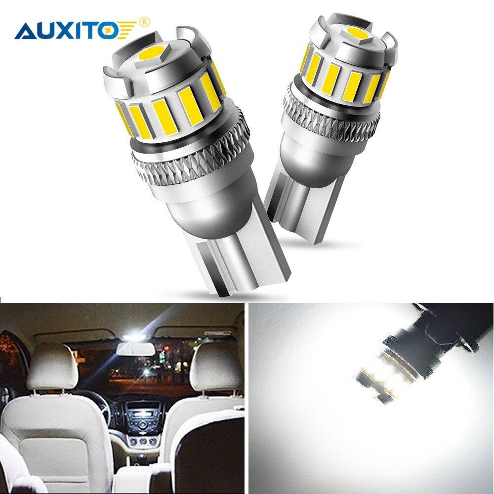 AUXITO, 2 uds., T10 W5W, luz Led para estacionamiento Interior de coche Canbus 194 168 para Toyota Camry CHR Auris Hilux Prius Celica Ipsum Verso