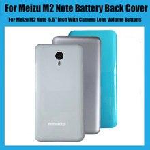 غطاء البطارية ل Meizu M2 ملاحظة 5.5 بوصة الإسكان الخلفي حافظة الباب مع هوائي كاميرا عدسة زجاجية (لا أزرار) قطع الغيار