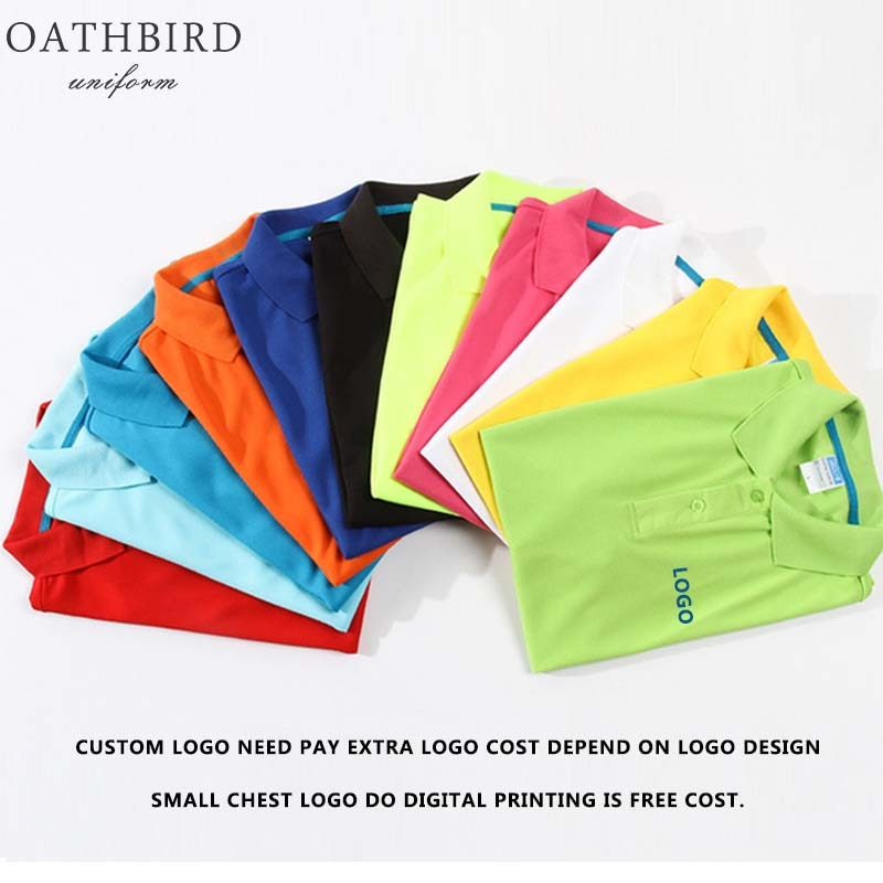 custom logo print polo shirt 100% polyester dry fit polo shirt custom embroidery personalised polo shirt full color text logo print work uniform workwear company design your own polo