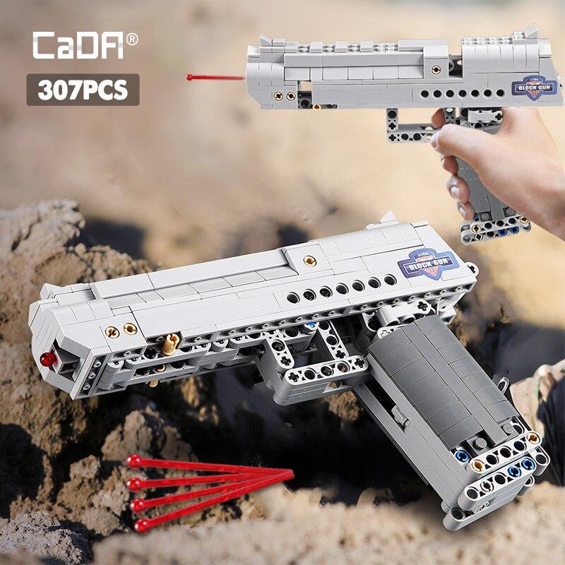 Cada désert aigle Pistool MK23 pistolet Uzi Machinepistool Militaire Ww2 Bouwstenen Voor Legoing Technic Stad Politie Swat Kan