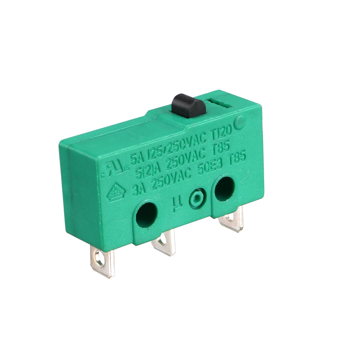 Uxcell KW4-3Z-3 Interruptor de Límite Micro SPDT NO NC 3 terminales momentáneas empujar accionador de botón verde